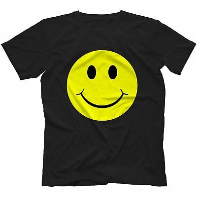 Acid House Smiley Face T-Shirt 100% Cotton I Love Rave Old Festival