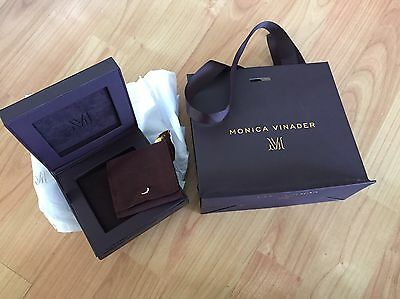 Moniker Vinader Bracelet Box With Pouch And Gift Bag