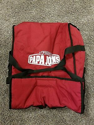 Pizza Delivery Bag PAPA JOHNS RED USED MAYBE ONCE