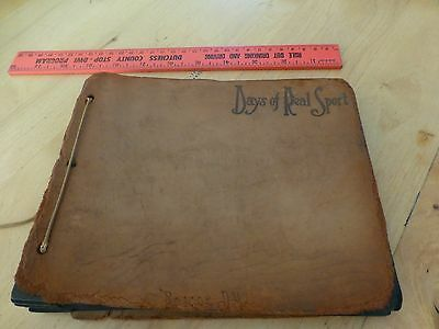 Vintage very Old Picture book album (no pictures) Days of Real Sport antique