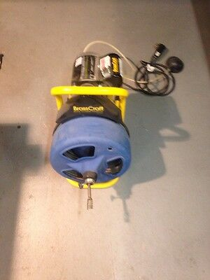 BRASS CRAFT PLUMBING SNAKE DRAIN CLEANING MACHINE...HEAVY DUTY...EXCELLENT 75ft