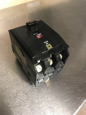 Square D QOB320 120/240V 20A Bolt On 3 Pole Circuit Breaker Working Pull Outs