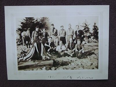GROUP OF BOY SCOUTS & SCOUT LEADERS Including ONE FEMALE Vintage 1935 PHOTO