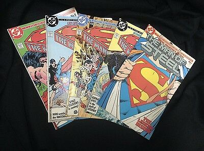 Man of Steel #1-5 of 6 COMPLETE SET LOT!! DC Comics 1986 Superman Mini Series