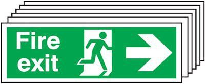 "Signs and Labels AMZ6PFX04411R ""Fire Exit Running Man Arrow R"" Safe Condition mm"