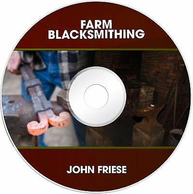 Blacksmith Blacksmithing Agricultural Farm Tool Projects Plans PDF Books on CD