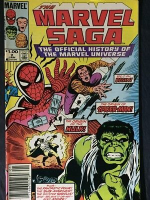 (5) THE MARVEL SAGA NOs.2,3,5,8,and NO.9 THE OFFICIAL MARVEL UNIVERSE- MARVEL