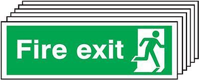 "Signs and Labels AMZ6PFX04911R ""Fire Exit Running Man Right"" Safe Condition 1.2"