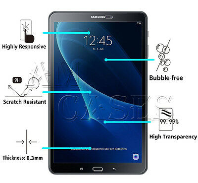 """UK Tempered-Glass Screen Protector for Samsung Galaxy Tab A 10.1"""" T580 T585"""