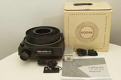 Kodak Carousel 750 Slide Projector, 5 inch lens, tray, and extra bulb
