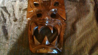 Large Hand Carved Tike Mask