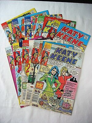 Katy Keene Comic Lot of 10 / # 23-24-25-26-27-28-29-30-31-33 from 1987 to 1990