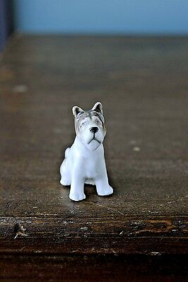 Porcelain Siberian Husky Dog Figurine Made in Japan