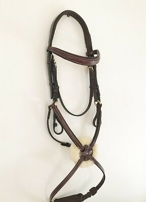 Demo model reduction - 'Ava' brown Italian leather grackle bridle - Full
