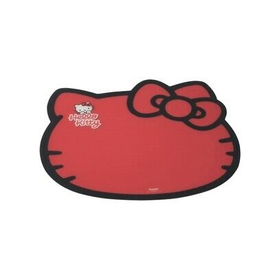 Authentic Hello Kitty Plastic Pet Bowl Feeding Mat - Red - Easy to Clean