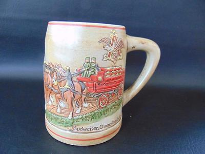 Budweiser Holiday Stein 1980 Champion Clydesdales Factory Flaw