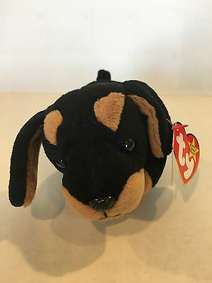 DOBY THE DOBERMAN Pinscher Dog Ty Beanie Baby Style 4110. Rare 938ee41eeec
