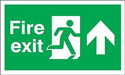 "Signs and Labels AMZFE047AFARP ""Fire Exit Running Man Arrow Up"" Safe Condition x"