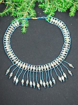 Vintage Ancient Egyptian choker necklace  - Blue - Isis - Ritual - Pagan