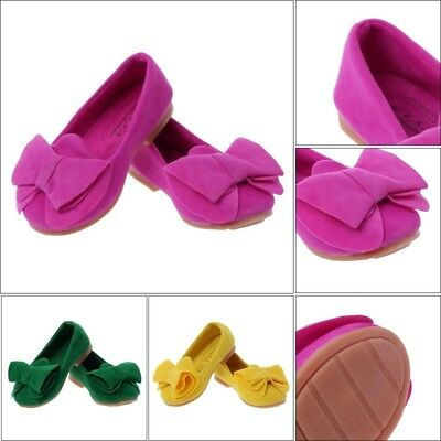Bowknot Toddler Kids Girl Casual Flat Shoes Princess Fasion Slip-on Shoes