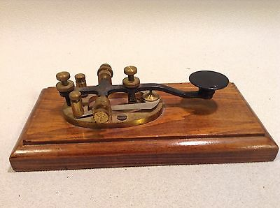 Antique Rare Early Morse Code Telegraph Key Nice Old Working Order