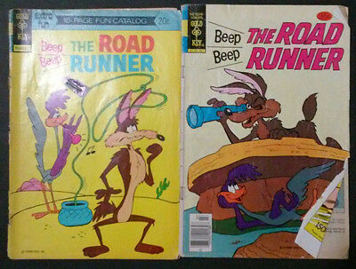 Beep Beep The Road Runner (Lot of 2 Vintage Bronze Age Comic Books)