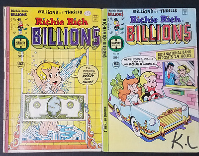 Richie Rich Billions #19 and #20 (Lot of 2 Bronze Age Comic Books)