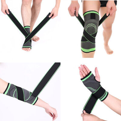 3D Weaving Pressurization Brace Cycling Ankle Support Sports Pad+ Knee Support