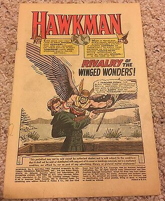 Hawkman #1 (Apr-May 1964, DC Comics) Coverless Silver Age