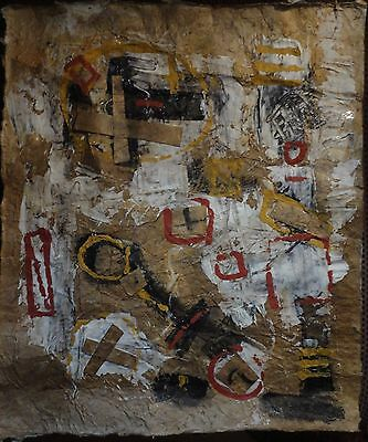 +Vintage Abstract Oil Signed Tapies, (Antoni),  Modern Old 20th Century Art