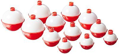 Red And White Push-Button Fishing Bobber Floats 12 pieces