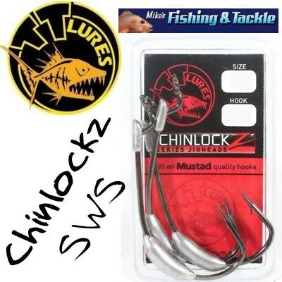 TT Lures Chinlockz SWS Snagless Weight System Jigheads Jig Heads Lures zman