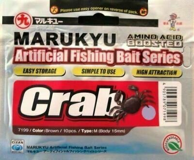Ecogear Marukyu Crab M 15mm 10  - Soft Plastics Lure Bream Brown Green or Purple