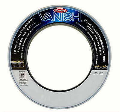 Berkley Vanish 100% Fluorocarbon Leader Fishing Line fluro carbon all sizes