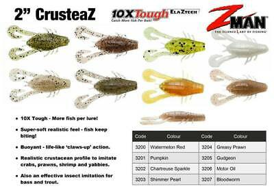 "Zman 2"" CrusteaZ  (z-man soft plastic lures z man)"