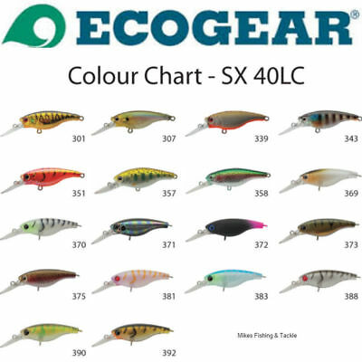 Ecogear SX40LC Hardbody Fishing Lure Good for Bream Flathead Bass Trout