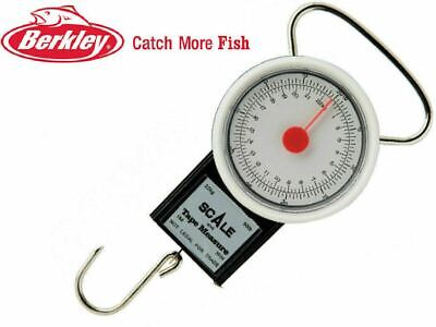 Berkley Portable Fishing Weighing Dial Scale 22kg Weight + Fish Tape Measure New