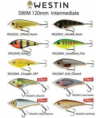 Westin Swim 120 Hardbody Fishing Lure- Choose Your Colour 120mm