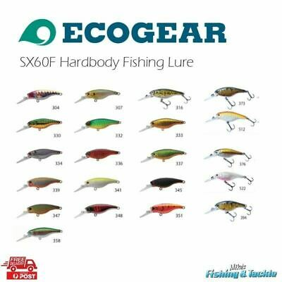Ecogear SX60F Hardbody Fishing Lure Good for Bream Flathead Bass Trout