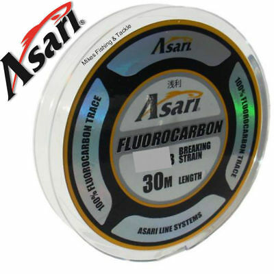 ASARI 100% Fluorocarbon Leader Fishing Line 30m Spool Fluoro carbon Trace