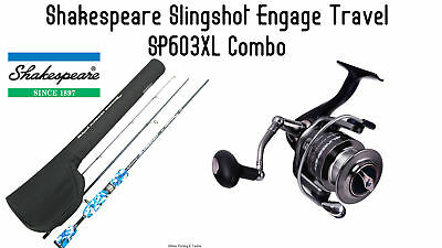 Shakespeare Slingshot Engage Combo - 30 Spin Reel & TRAVEL SP603XL 6' Rod