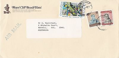 BD916) Thailand nice Advertising Airmail cover to Australia