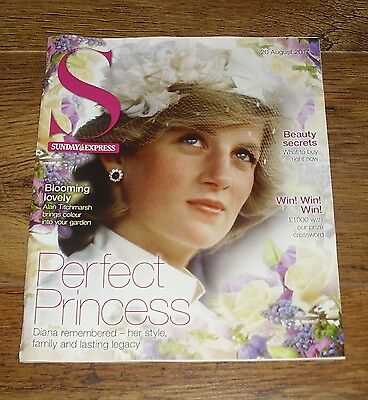 Princess Diana Sunday Express S Magazine Cover and Feature August 20 2017