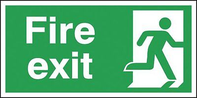 "Signs and Labels AMZFE049AFARP ""Fire Exit Running Man Right"" Safe Condition 1.2"