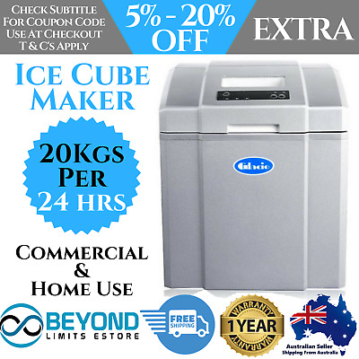 20Kg Ice Cube Making Machine Commercial Home Ice Cube Maker Portable Cafe Party