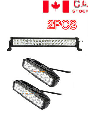 22inch 120W Combo CREE LED Light Bar For Offroad Truck 4WD Boat SUV+6''18W Work