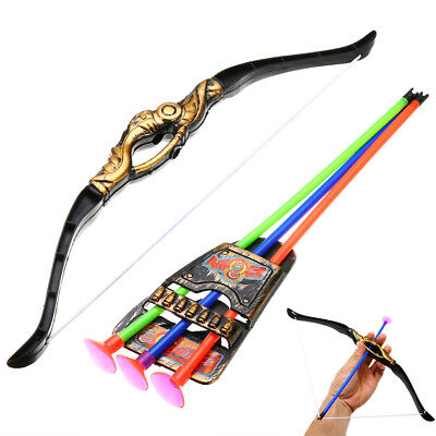 Children Toys Bow and Arrow Double-edged Sword With 3 Sucker Archery