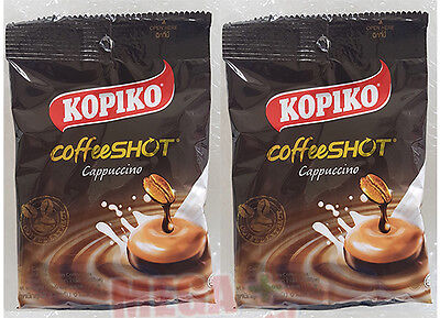 27 g. x 2 Packs = 18 Tablets KOPIKO Cappuccino Delicious Rich Coffee Candy