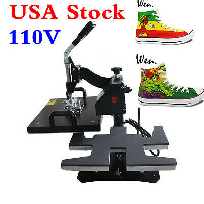 110V Shoes Heat Press Machine for Sneakers Sublimation Printing US Stock!