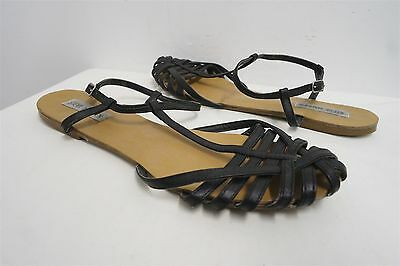 8b78a667c06 STEVE MADDEN SILLY Black Strappy Sandals Sz 9 Wide - $29.99   PicClick